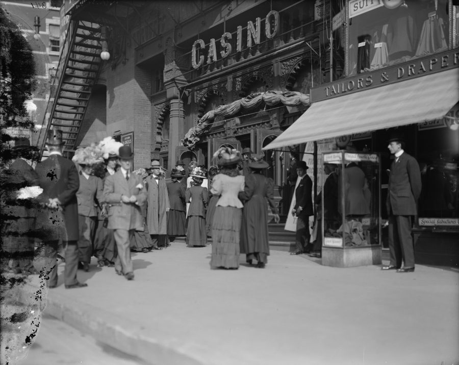 Outside the Casino Theatre on a Saturday Matinee 1907 LOC Detroit Publishing Co.