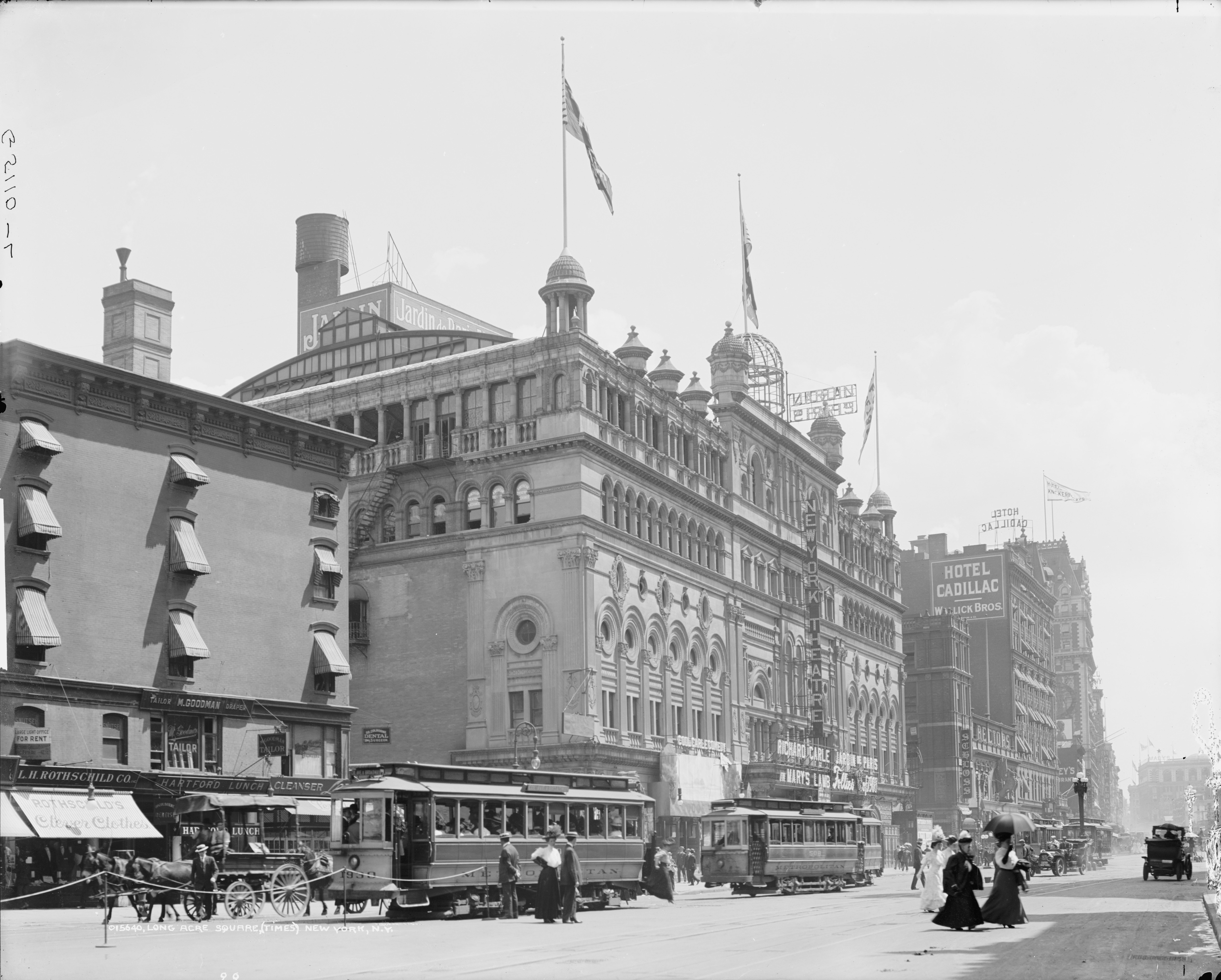 High resolution Times Square Long Acre Square 1908