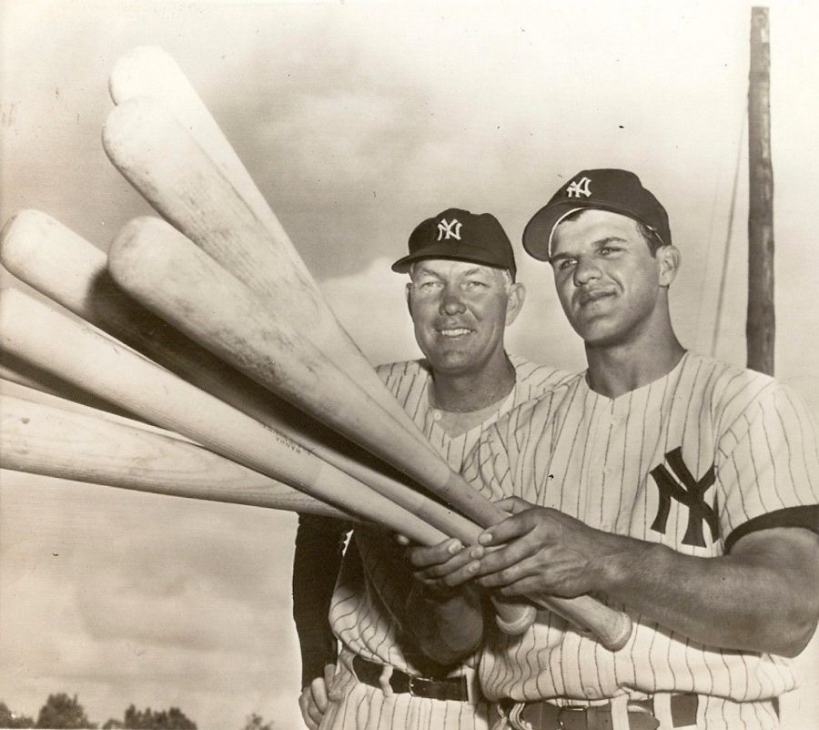 "Yankees Rookie Bill ""Moose"" Skowron Can Hold A Lot Of Bats"