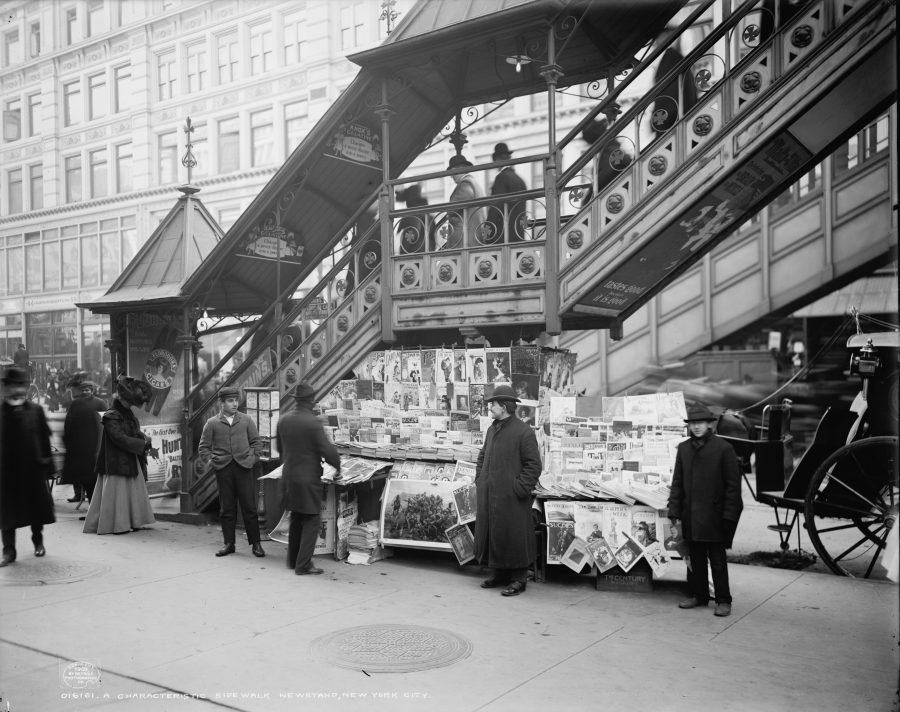 New York City Newsstand 1903