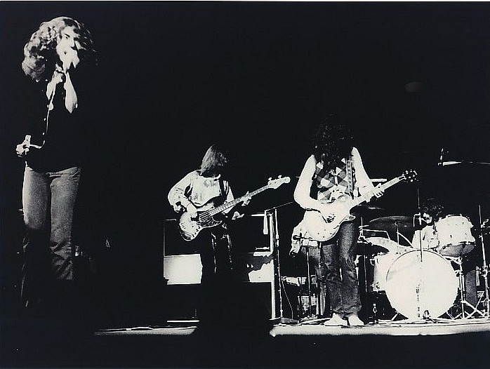 Led Zeppelin on stage stage photographer unknown