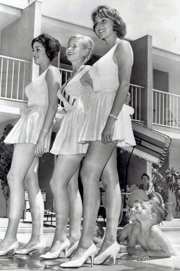 Boys at beauty contest 1960