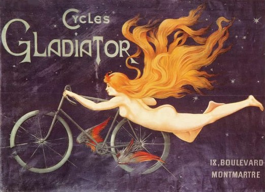Nude Woman 19th century bicycle ad