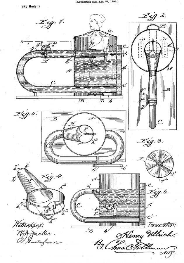 Patent Henry Ullrich 1900 US640837