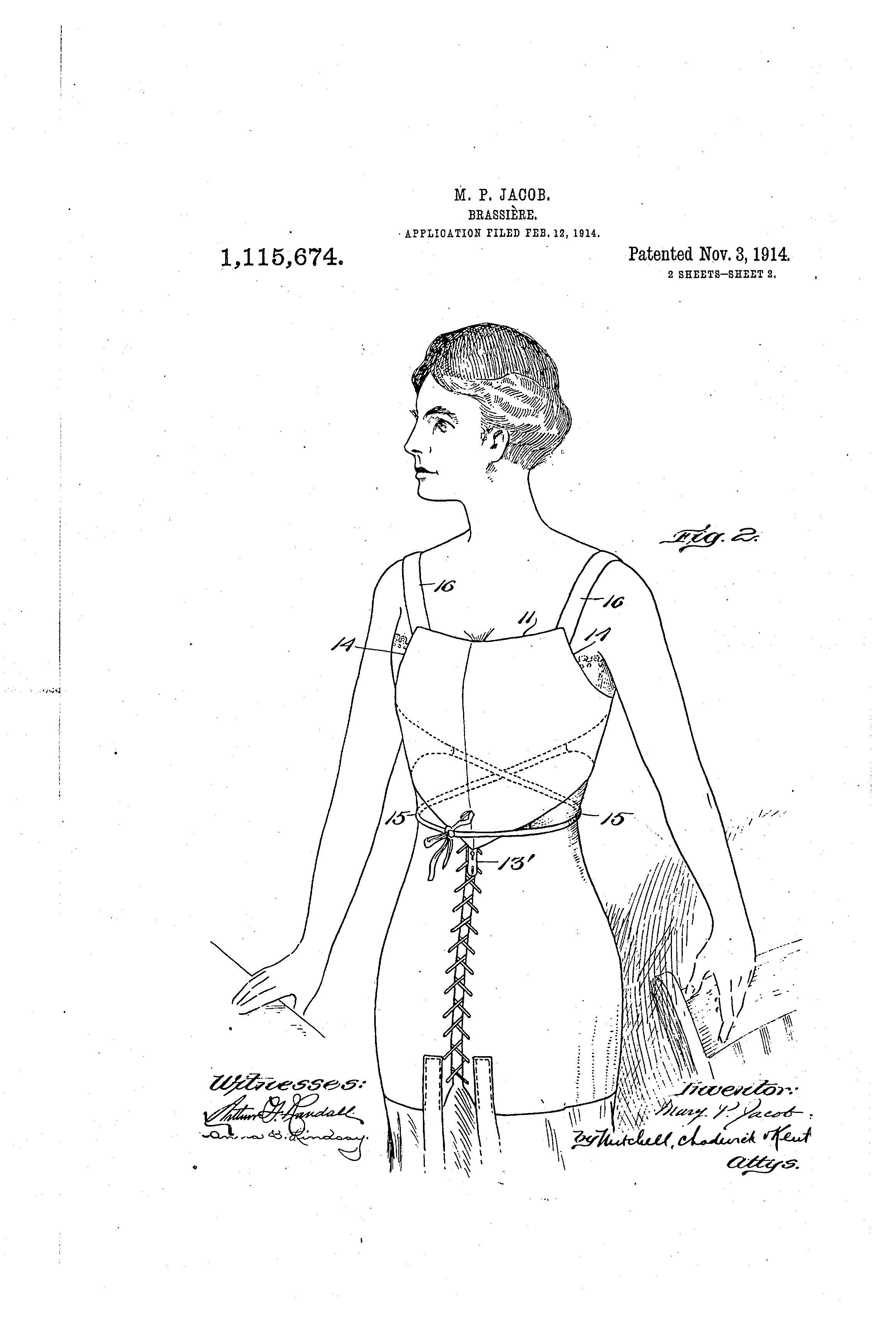 Early 20th Century Brassieres From The U.S. Patent Office