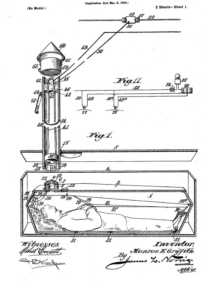patent Monroe Griffith 1900 US666605