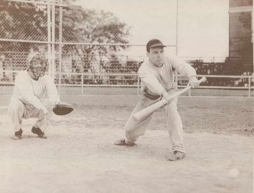 Future President Gerald Ford plays baseball in 1949