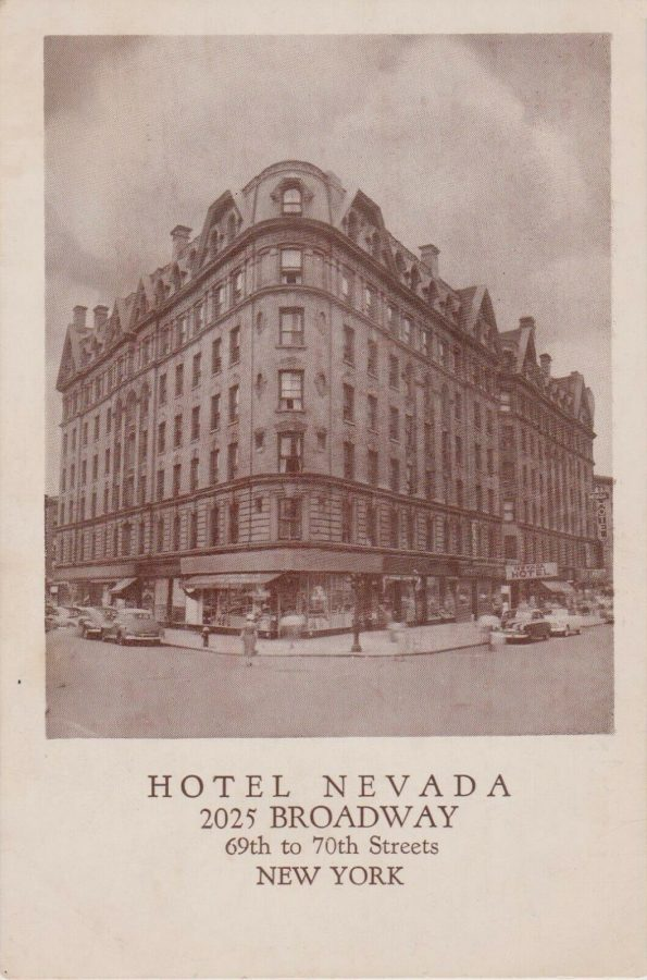 Hotel Nevada Broadway between 69th and 70th Streets New York City