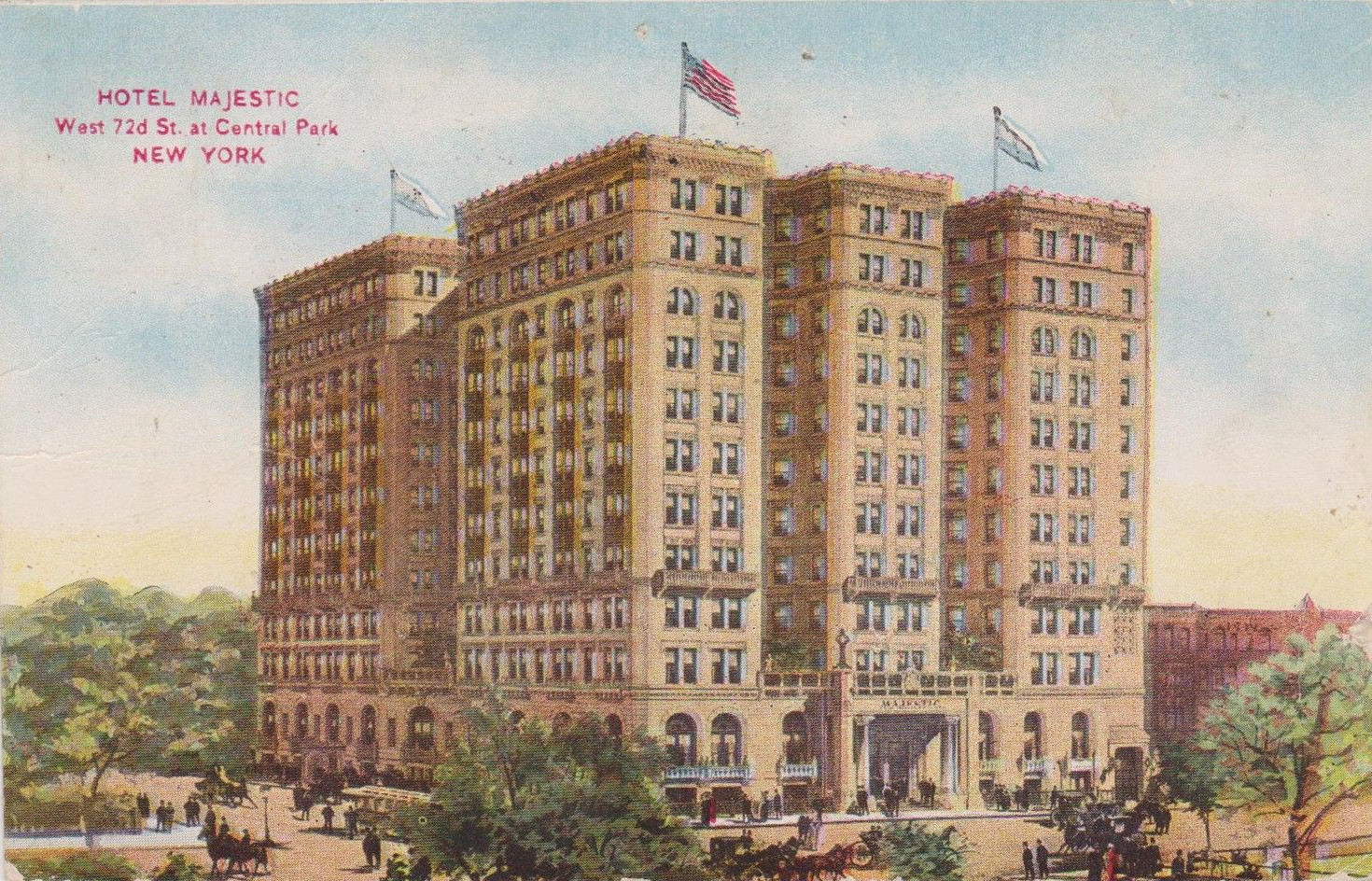 Old New York In Postcards #20 – Hotels Of The Past On The Upper West Side