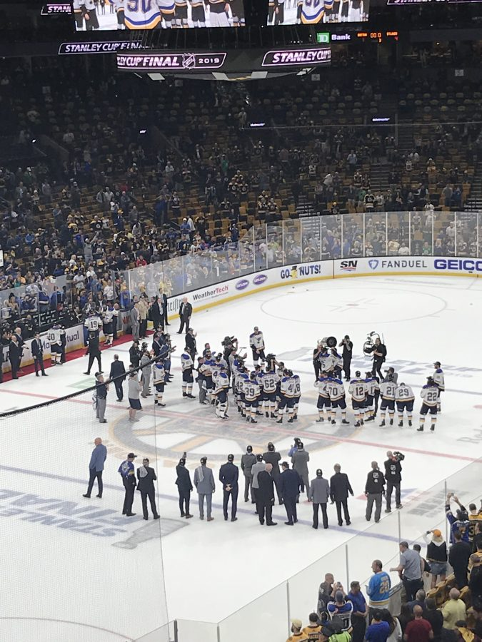 From TD Garden June 12 2019 St. Louis Blues celebrate winning the Stanley Cup