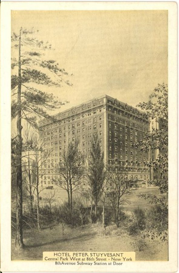 Central Park West 86th Street Peter Stuyvesant Hotel