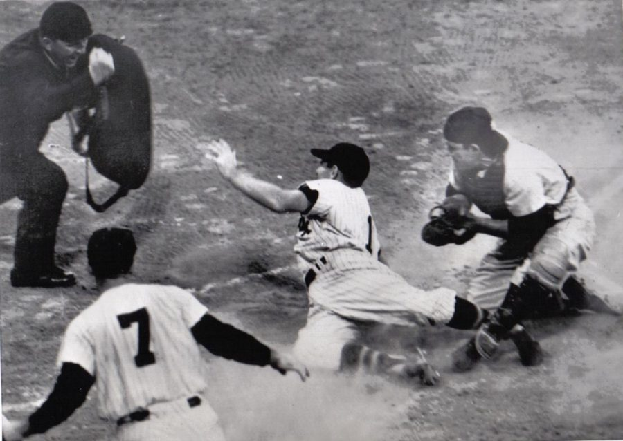 George Kell Is Out At Home Plate Yogi berra Applies the tag 1955 Both players rarely struck out.