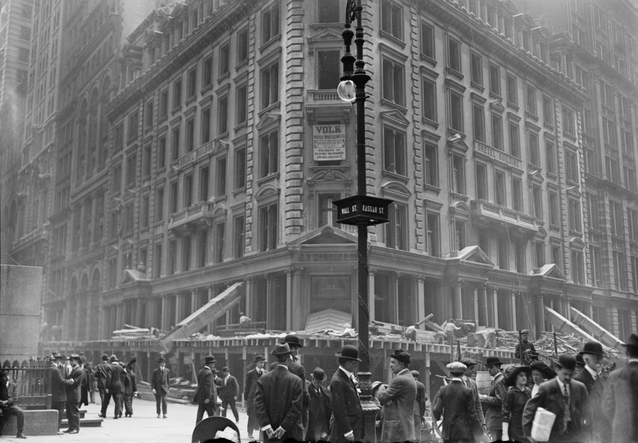 May 1 1913 Destruction of Drexel Building on Wall Street