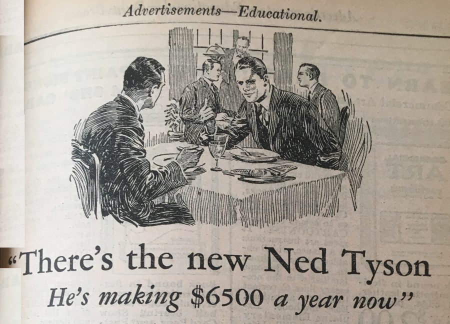 1929 almanac ad $6500 per year job