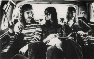 Rush in limo 1978 Peart Lifeson Lee