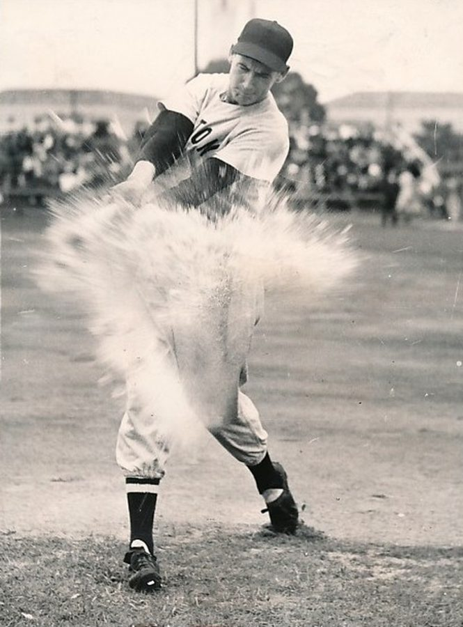Ted Williams hitting a grapefruit March 6 1949