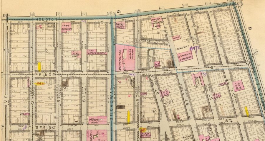 Prince Street Bromley & Robinson 1879 Atlas of New York
