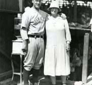 Lou Gehrig's Mom Visits During Spring Training 1930