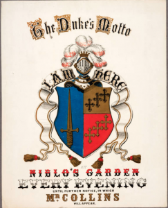 The Duke's Motto Niblo's Garden 1863