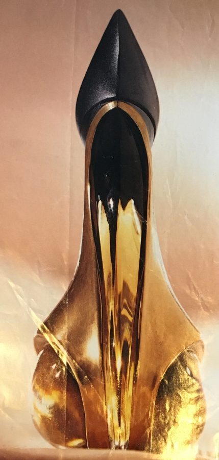 Phallic perfume bottle ad Donna Karan