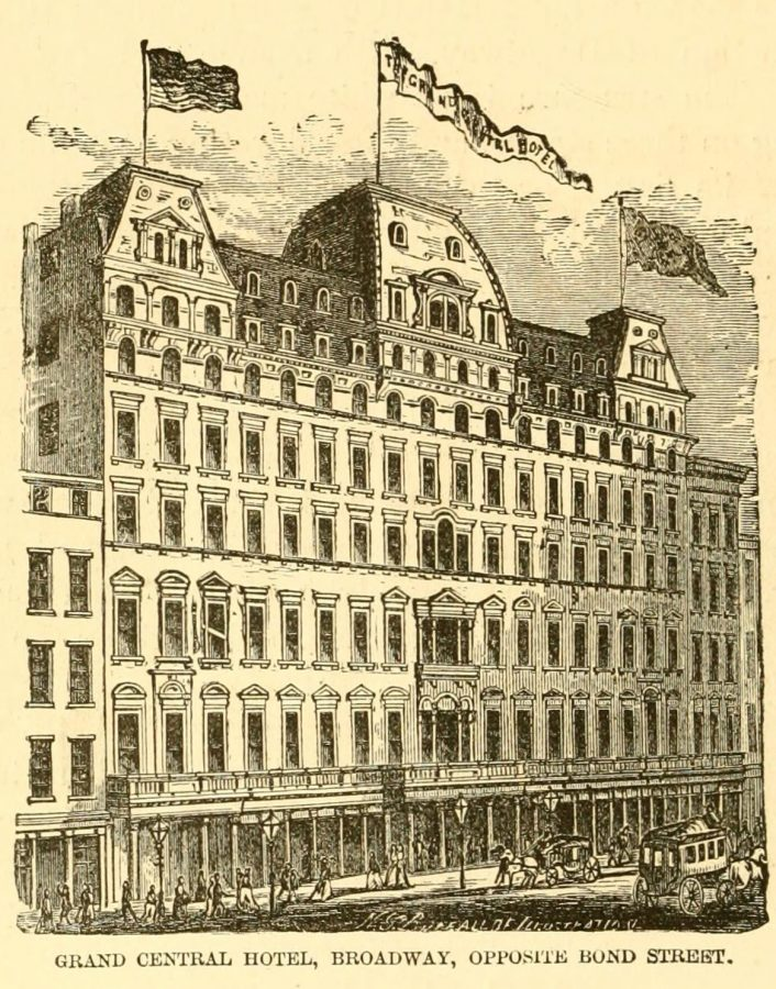 Broadway Grand Central Hotel 1870