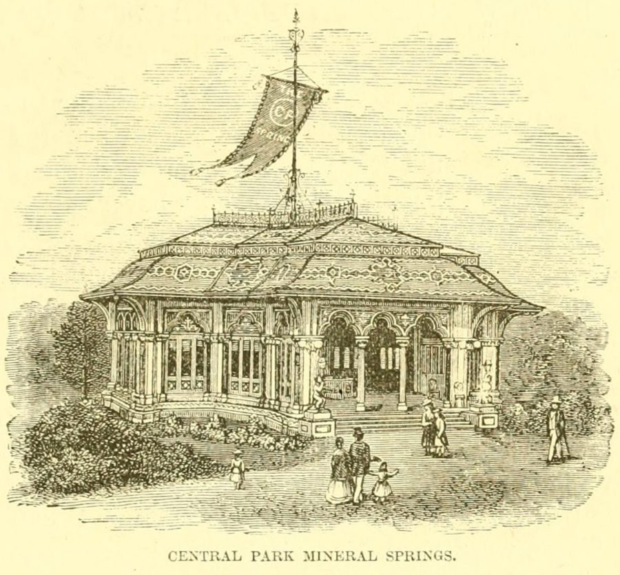 Mineral Springs central park 1870
