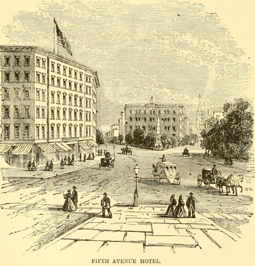 Intersection Fifth Ave and Broadway at 23rd St looking north 1870