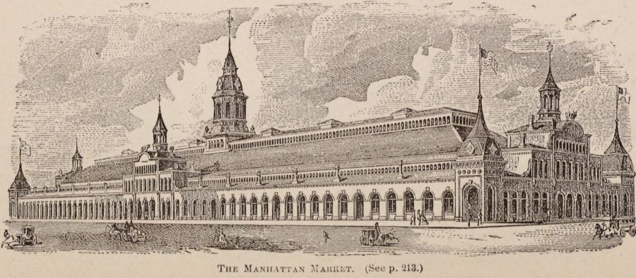 Manhattan Market 34th Street 11th Ave 1870 New York City