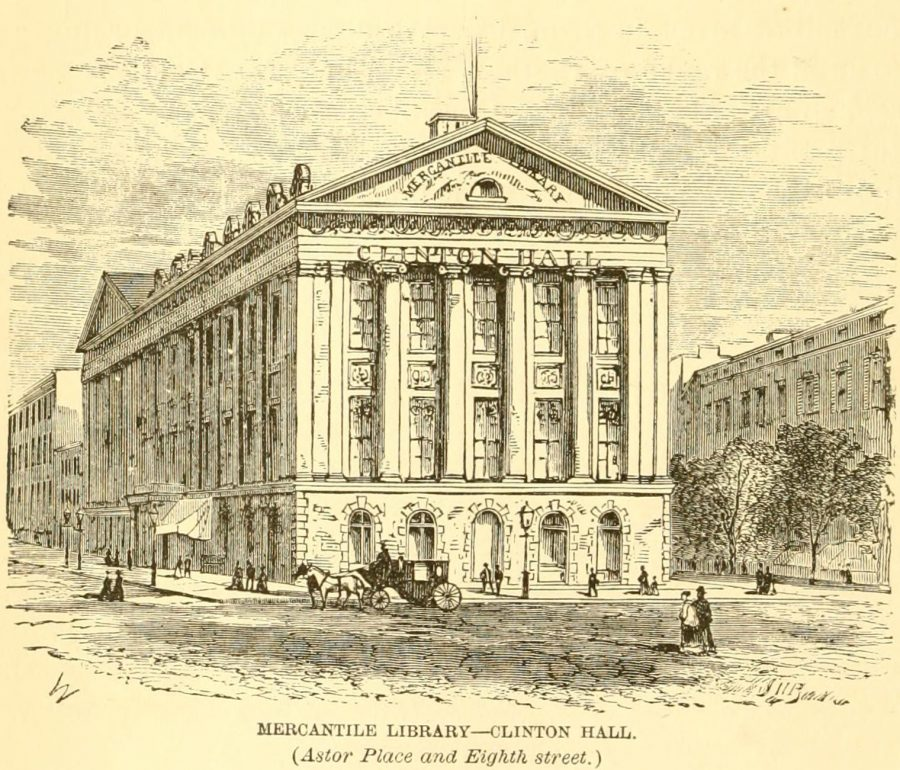 Mercantile Library 1870 New York City