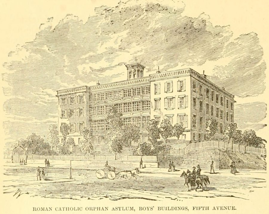 Roman Catholic Orphan Asylum New York circa 1870