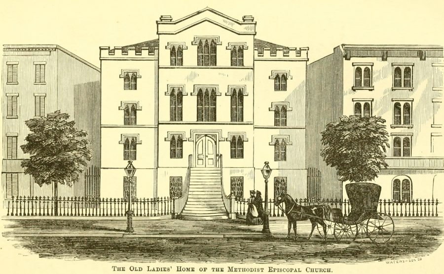 Old Ladie's Home 42nd St 8th ave 1870 New York City