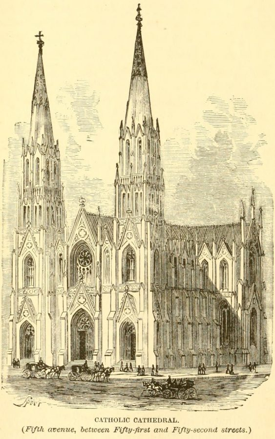 St. Patrick's Cathedral 1870 New York