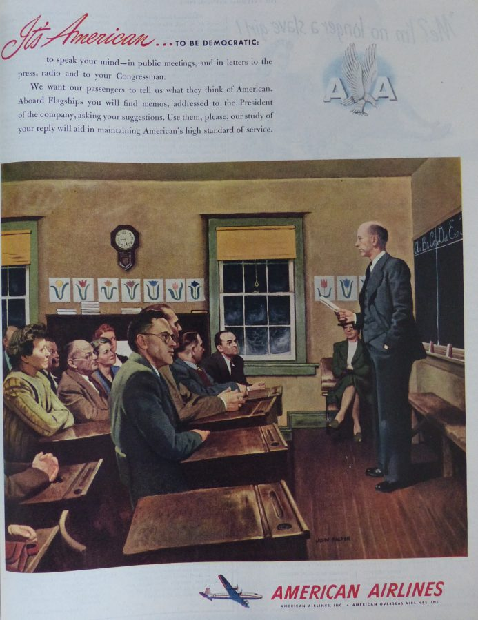 American Airlines Freedom of Speech ad 1947