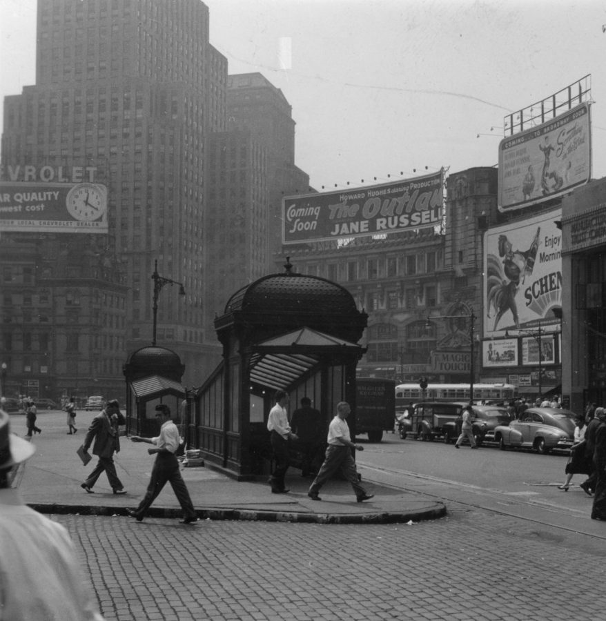 Columbus Circle 1947 Keystone-Mast Collection, UCR/California Museum of Photography, University of California at Riverside