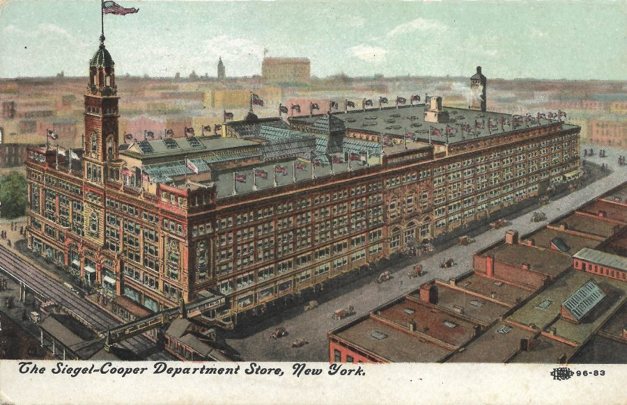 Siegel Cooper Dpartment store postcard 18th Street 6th Avenue New York City