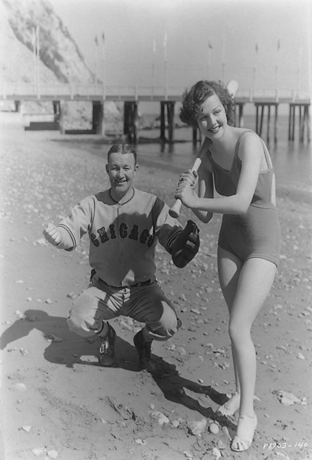 Ann Sheridan 1930s Catalina Island with Gabby Hartnett