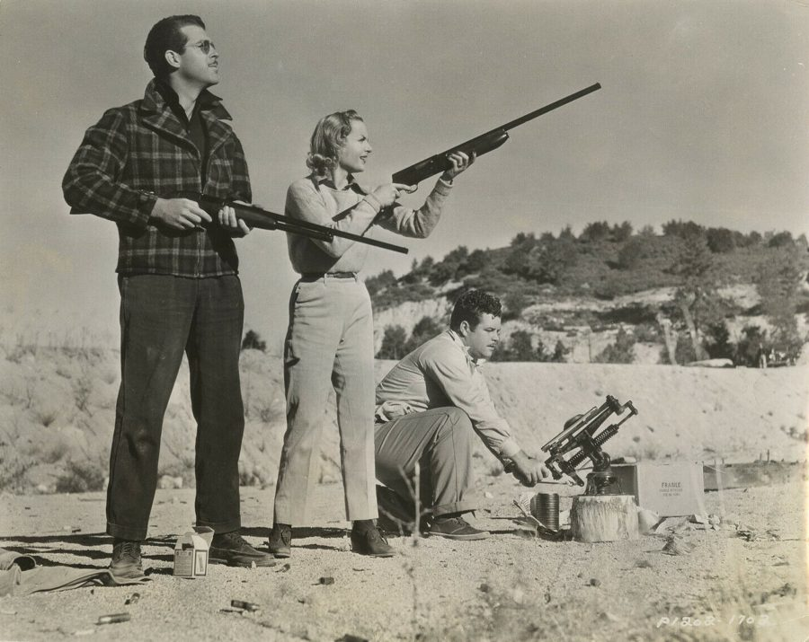 Fred MacMurray Carole Lombard 1937 Candid Skeet Shooting 1937 photo Tom Evans