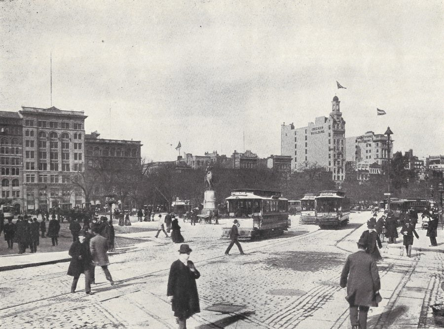 1901 Broadway & 14th Street looking at Union Zquare copyright 1903 photo J. Howard Avil