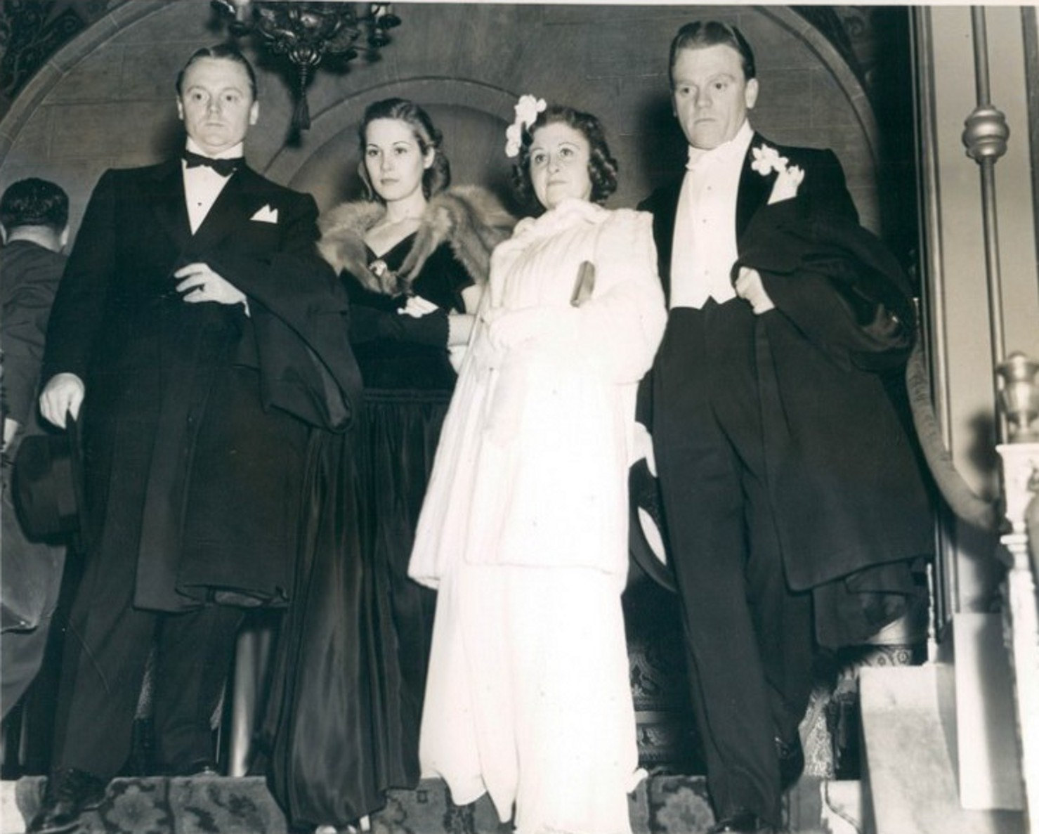 Classic Hollywood #9 - James Cagney & Brother William Cagney With Their Wives