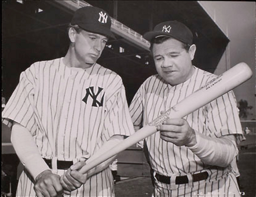Classic Hollywood #10 - Gary Cooper & Babe Ruth