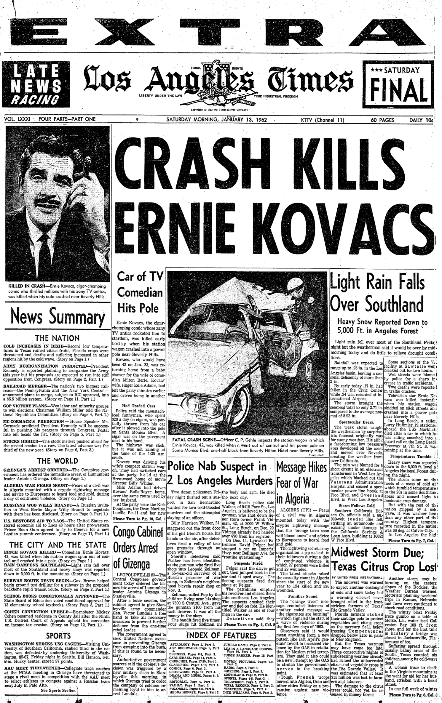 50th Anniversary Of the Death Of Ernie Kovacs