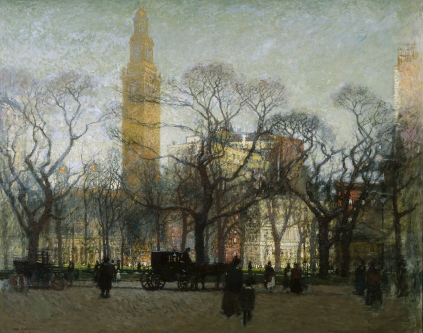 Madison Square In A Vintage Painting