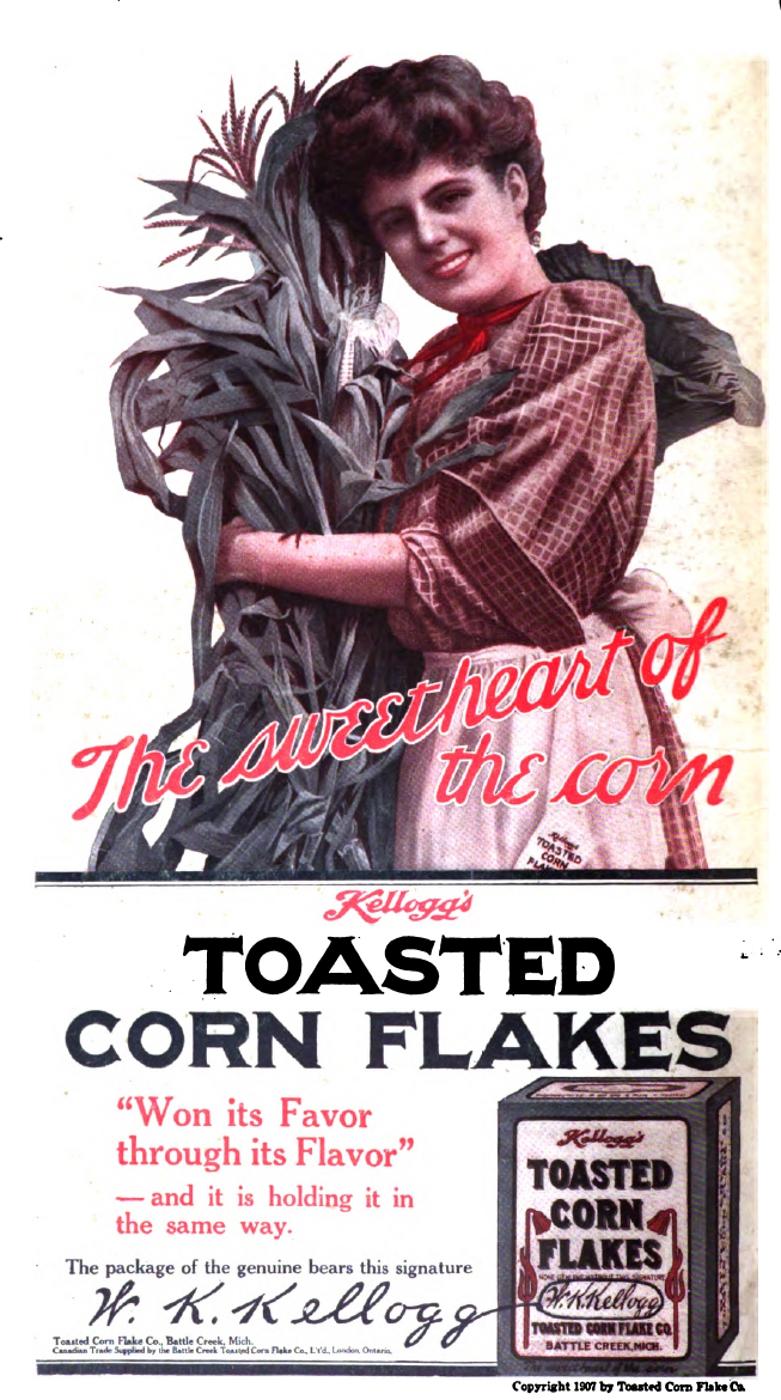A Peculiar Kellogg's Corn Flakes Ad 1907