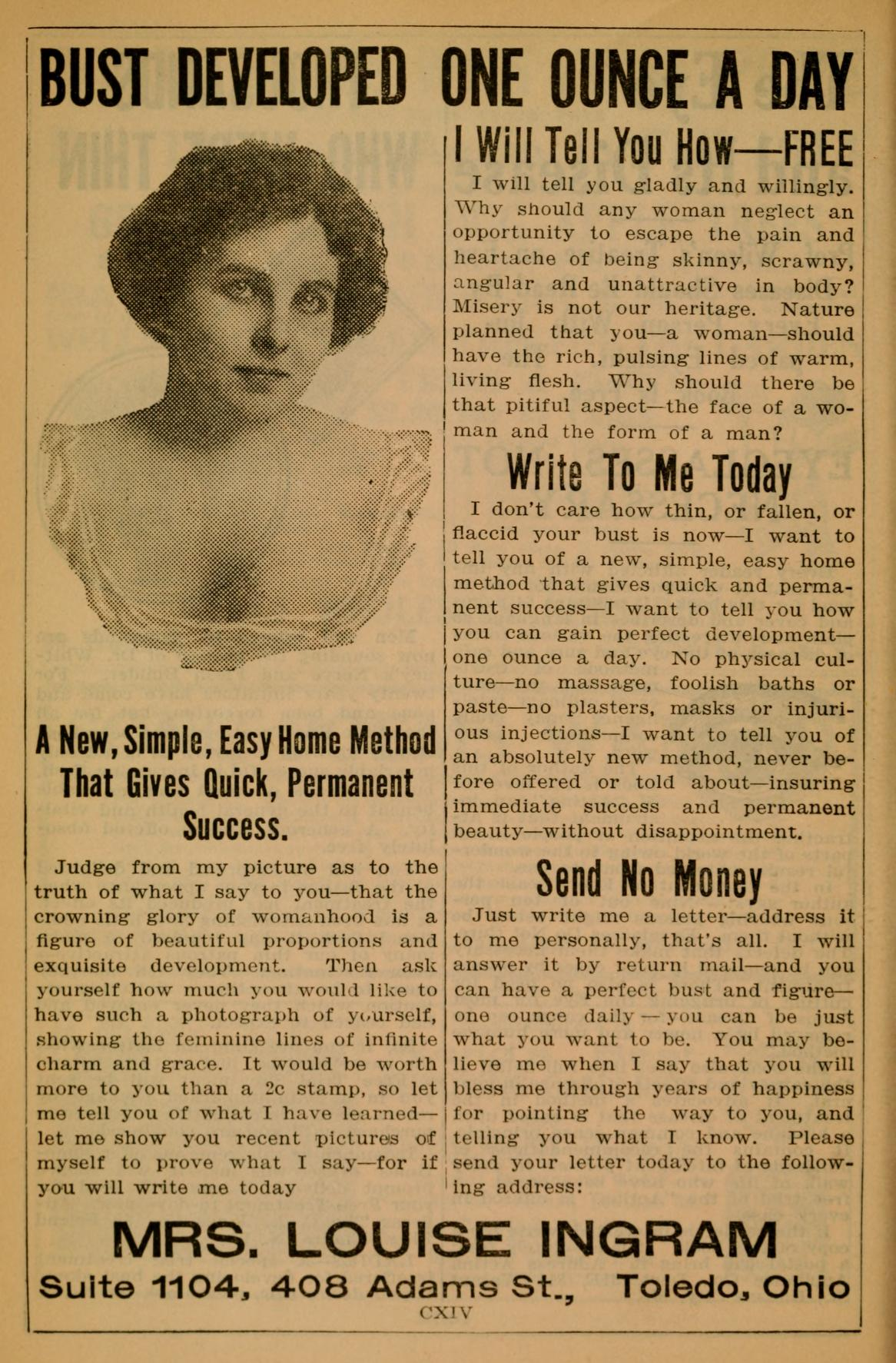 Increase Your Bust Ad - 1915