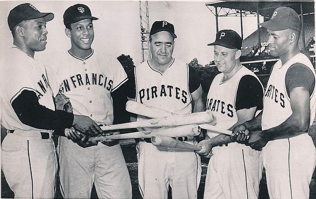 Willie Mays, Roberto Clemente Before The 1961 All-Star Games