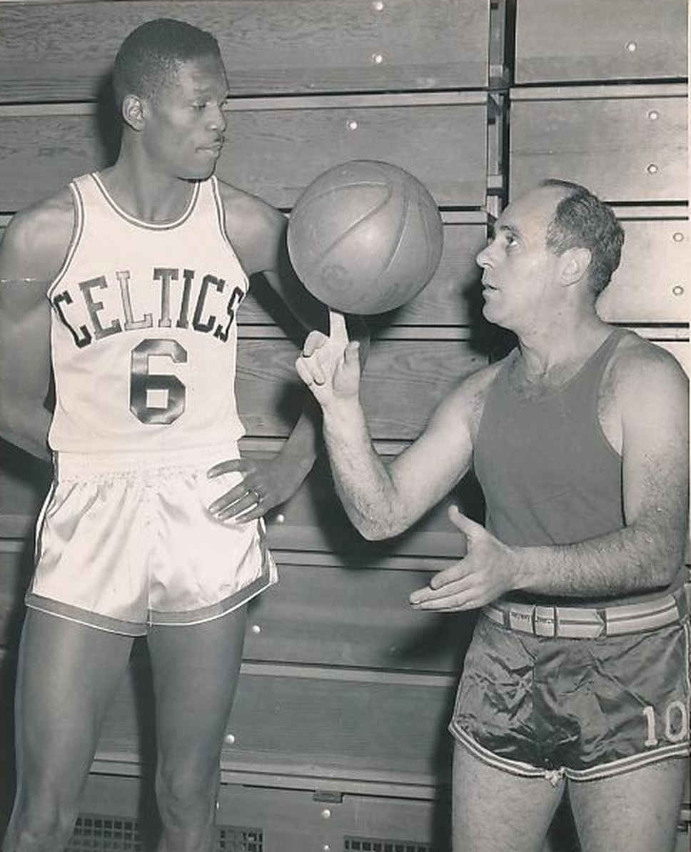 Red Auerbach Shows Rookie Bill Russell A Thing Or Two -1957