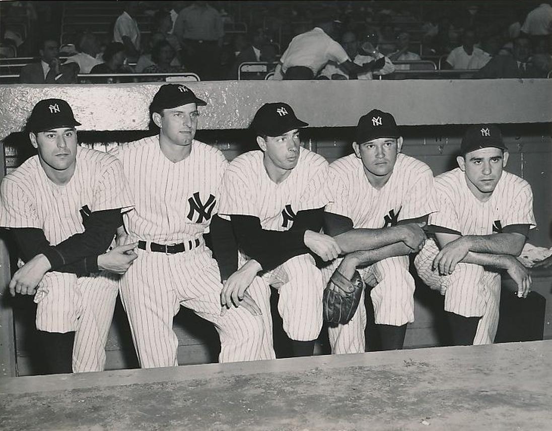 1949 Yankees All-Stars - DiMaggio, Berra, Henrich, Reynolds & Raschi