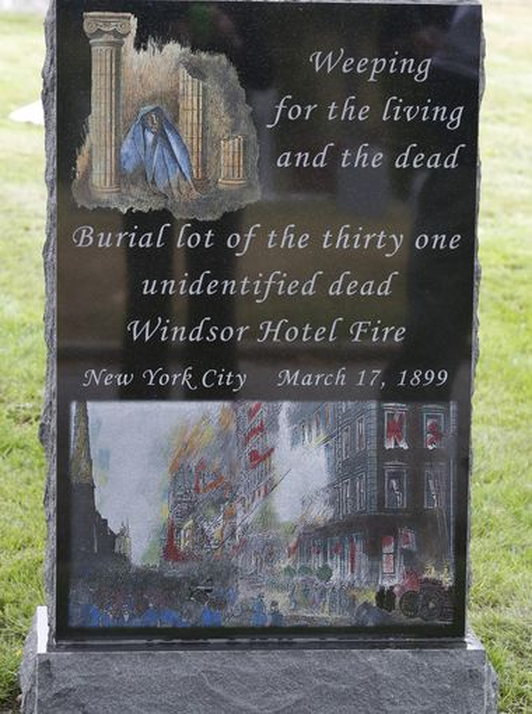 115 Years After New York's Deadliest Hotel Fire, A Memorial Goes Up For The Unidentified Dead