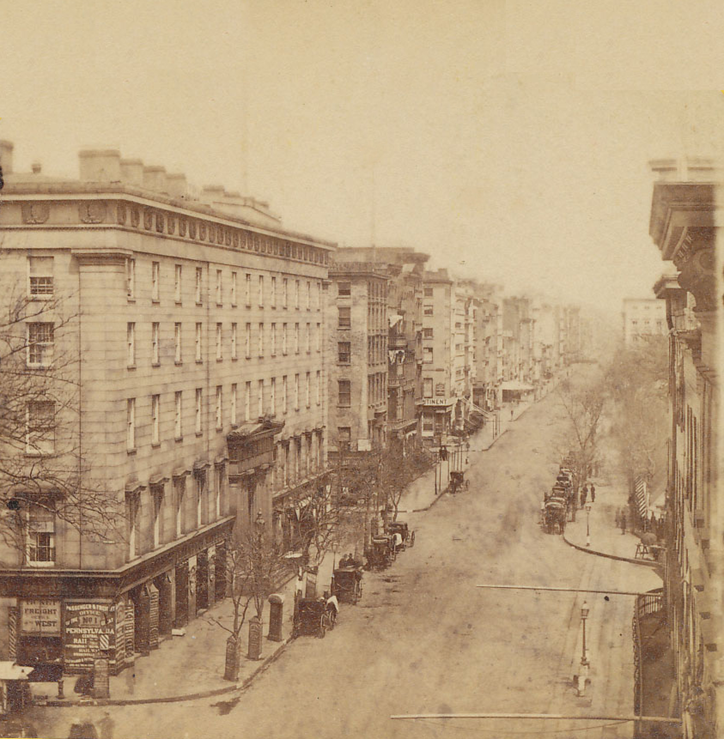 Old New York In Photos #51 - Broadway & The Astor Hotel 1868