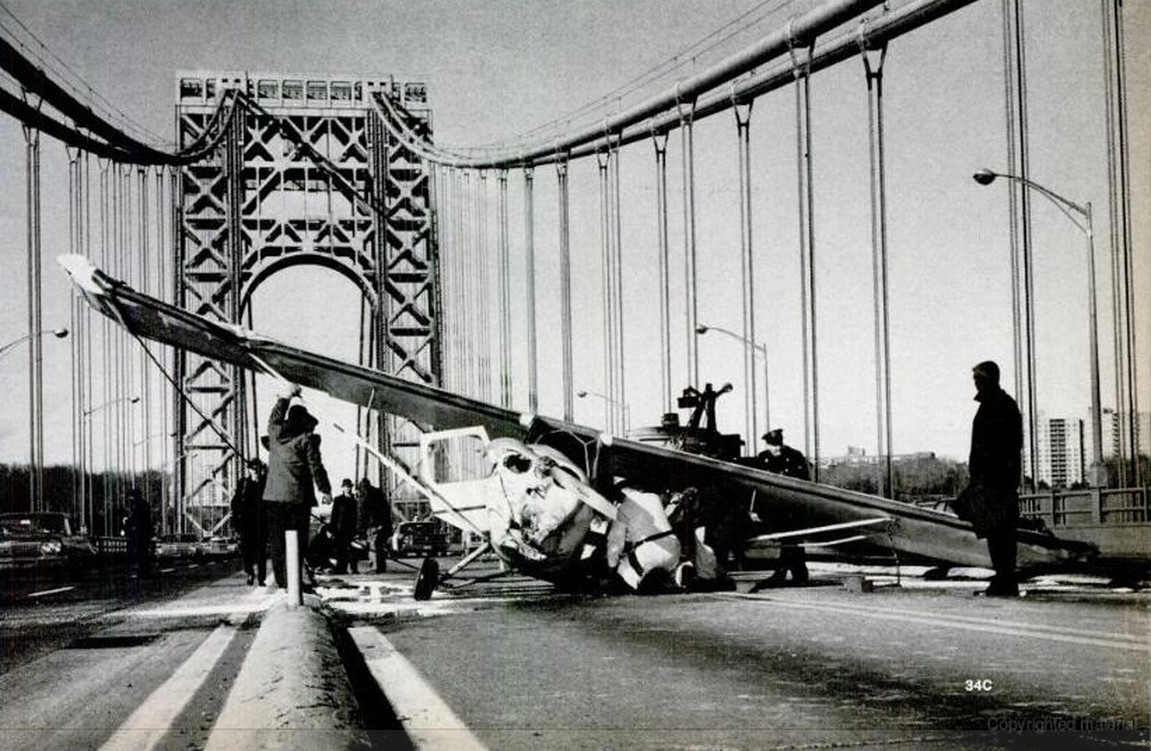 The Day A Plane Landed On The George Washington Bridge